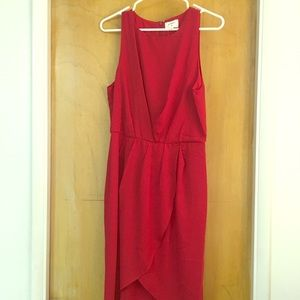NWT- high low red dress